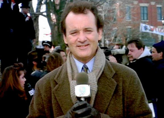 Phil Connors reporting the news