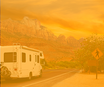 RV valley adventure